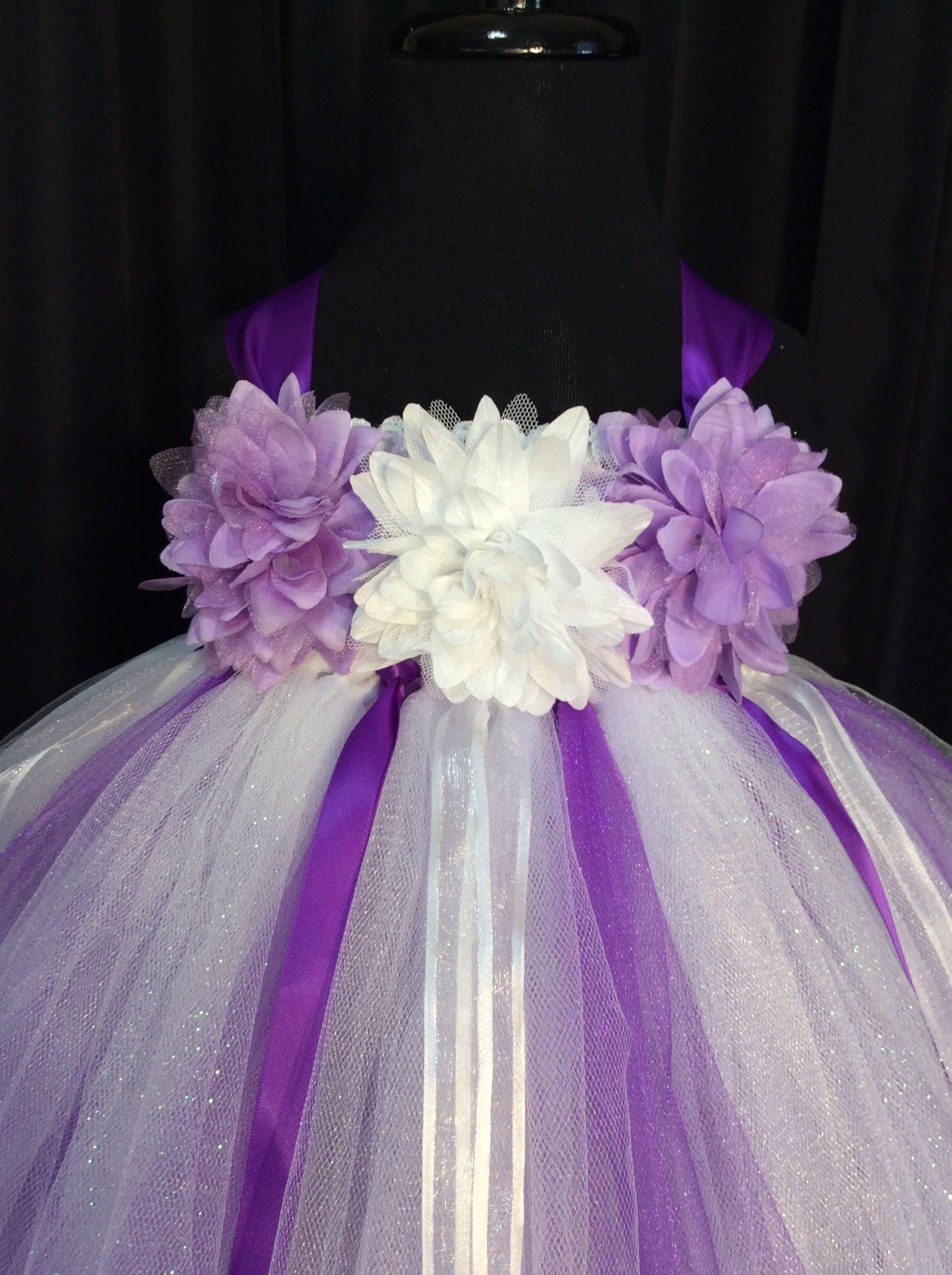 White and purple flower girl dress tulle flower girl dress tutu white flower girl dress gallery photo gallery photo gallery photo mightylinksfo
