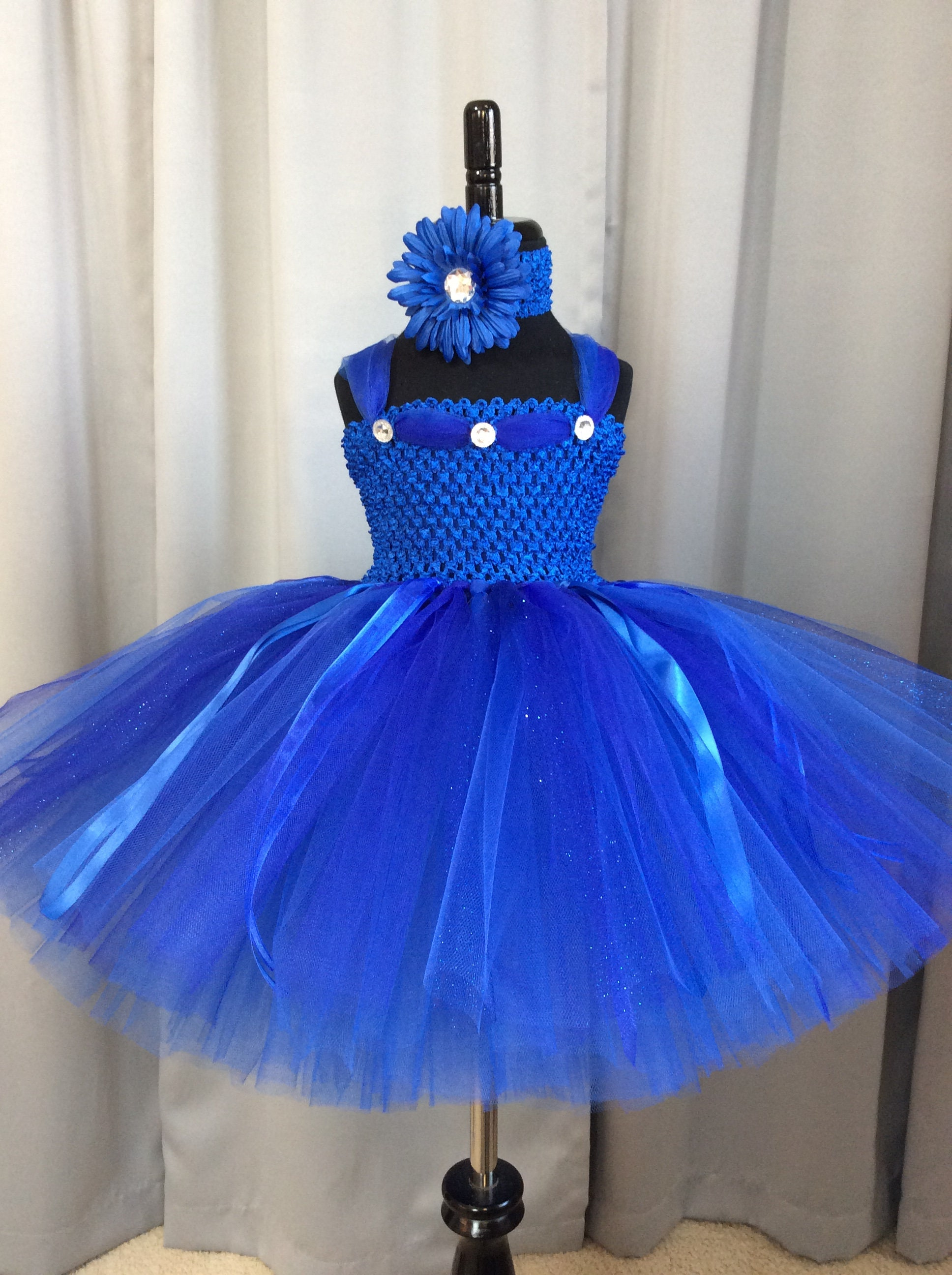 Royal blue fairy tutu dress w/matching headband and wings; birthday outfit; fairy costume for babies; blue fairy costume for little girls & Royal blue fairy tutu dress w/matching headband and wings; birthday ...