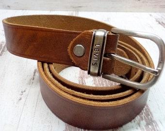 Vintage homme Levi de détresse ceinture en cuir, ceinture en cuir marron  Levi Strauss, ceinture en cuir véritable pour homme rustique 37ca1725b3a