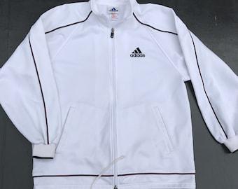 7f6ebadefab7 Adidas Trainer Jacket Vintage Adidas Sweater Jacket Hip Hop Swag Streetwear  Jacket 90s Adidas Windbreaker 90s Adidas Big Logo sz M