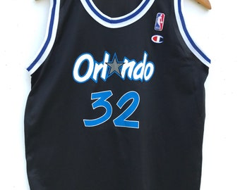 Vintage 90 s Champion Nba Jersey Nba Orlando Magic Basketball Shaquille  O neal Jersey Nba Champion 349db9d68