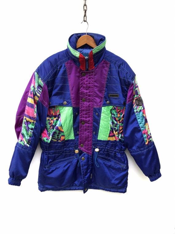 Vintage Tonini Ski Jacket Colourblock Winter Ski J