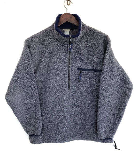 LL Bean Jacket Vintage LL Bean Fleece Sherpa Sweat