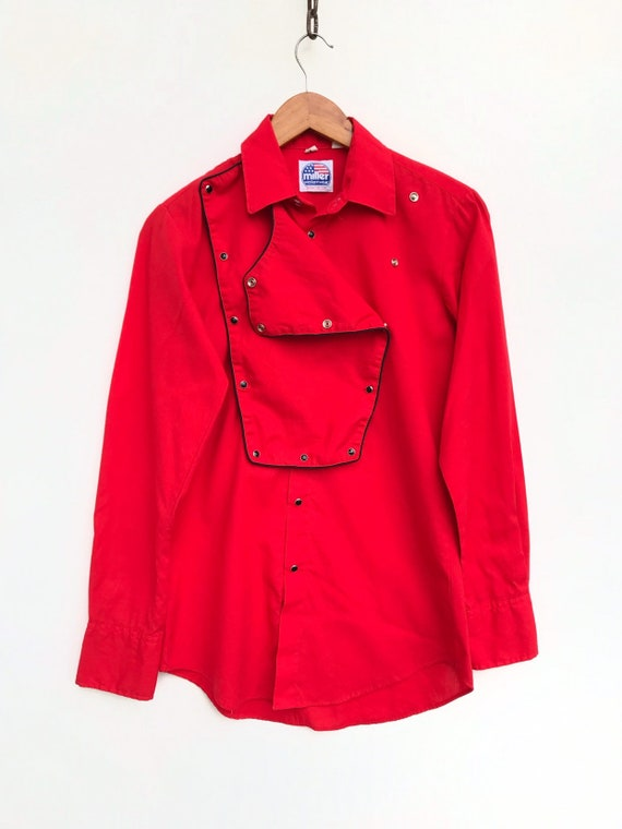 Vintage Miller Western Shirt Red Colour Vintage 80