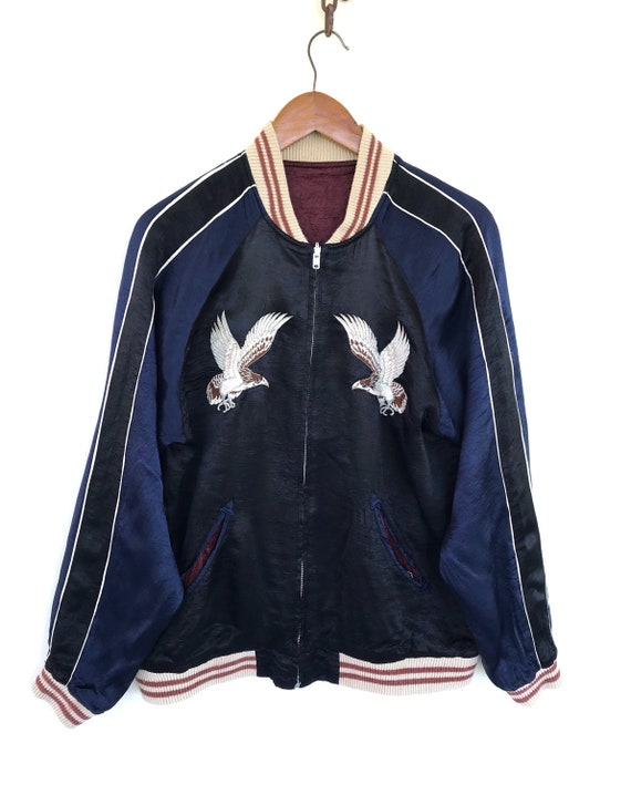 Sukajan Riversible Jacket Vintage Sukajan Rayon  … - image 2