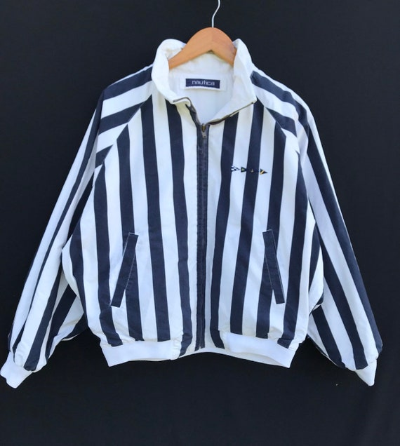 Nautica Jacket Vintage Nautica Stripe Riversible J