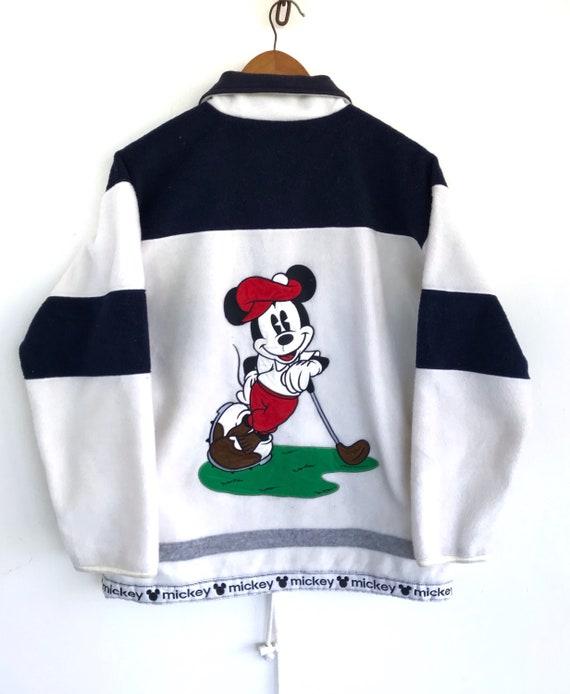 Mickey Mouse sweater fleece jacket vintage mickey