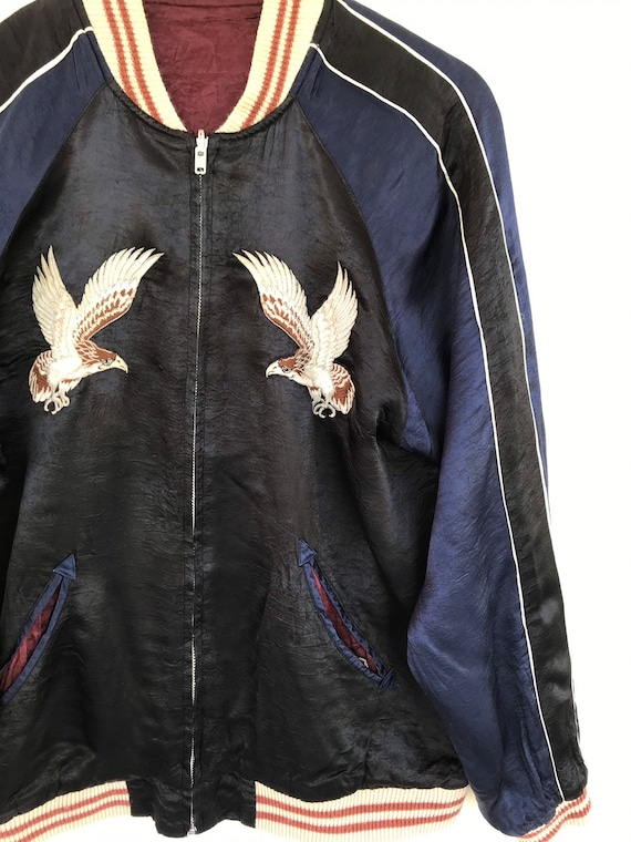 Sukajan Riversible Jacket Vintage Sukajan Rayon  … - image 6