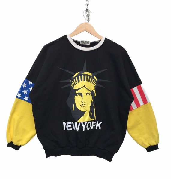 New York Sweatshirt Vintage New York Liberty Logo