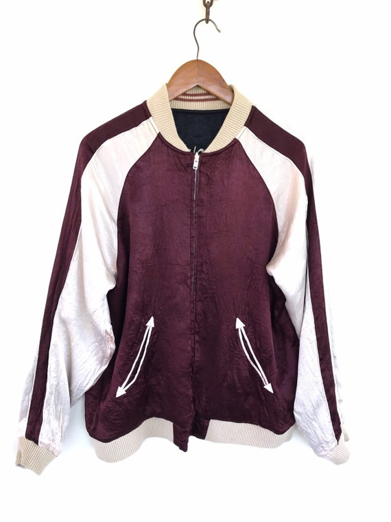 Sukajan Riversible Jacket Vintage Sukajan Rayon  … - image 3