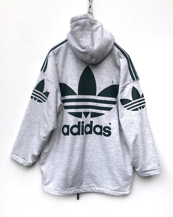 Adidas Sweater Vintage Adidas Hoodie Jacket Hip Ho