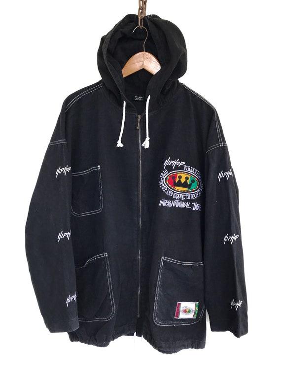 Hip Hop Jacket Vintage Hip Hop Spellout Sweater Ho