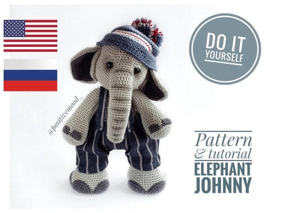 crochet pattern, english or german, monkey Johnny | 427x570