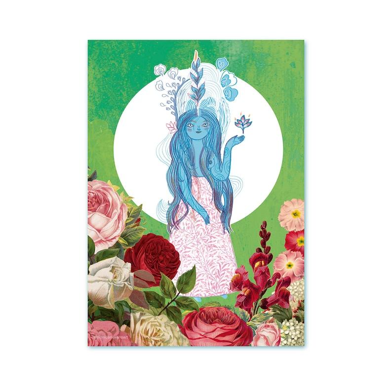 Illustration of Goddess of Harmony art print poster by image 0