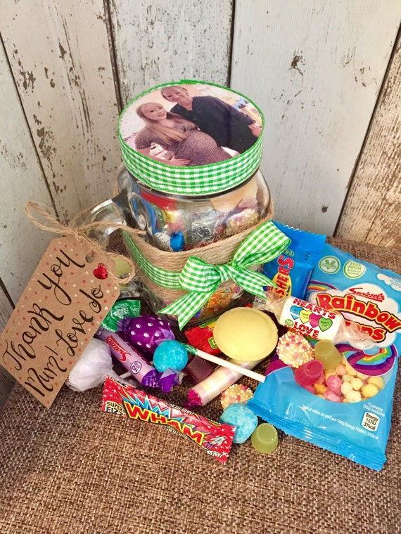 Retro Sweets Personalised Mason Jar