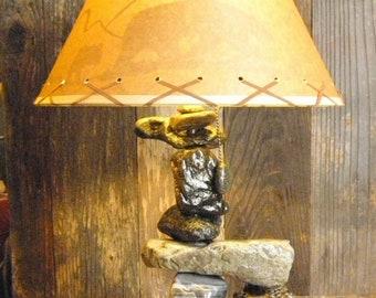 River Rock Lamp Etsy