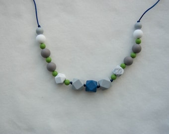 Silicone Teething Necklace, Chewable Necklace, Chewelry, Baby Chew Necklace, Chewable Beads, Teething Beads, Sensory Necklace