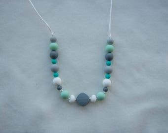 Silicone Teething Necklace, Chewable Necklace, Chewelry, Baby Chew Necklace, Chewable Beads, Teething Beads,