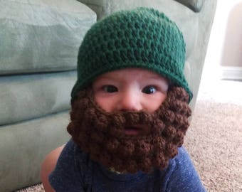 7f72f5c6183 Crochet beard hat