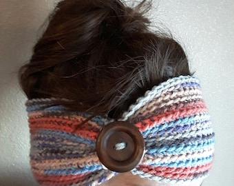 Crochet Button Headband/Earwarmer