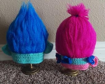 Trolls hats, Trolls beanies, Poppy hat, Branch hat