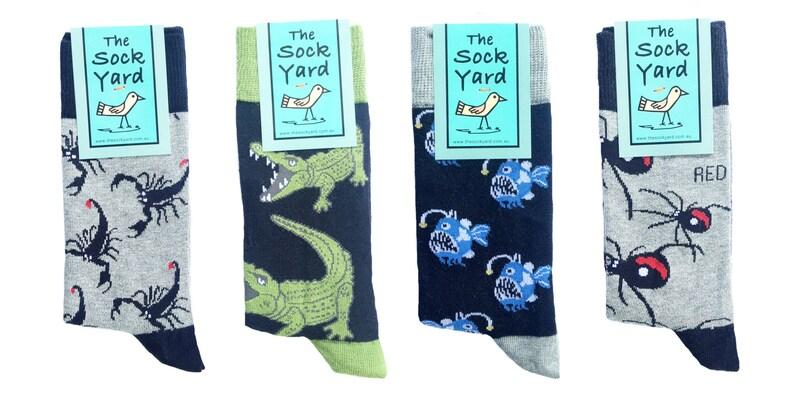These Australian designed novelty socks mens socks cool image 0