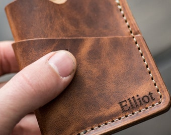 3837819bd219 Personalized Leather Card Sleeve