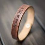 Customized Bracelet, Personalized Bracelet, Leather Bracelet, Custom Cuff Bracelet engraved, Gift for him- English Tan