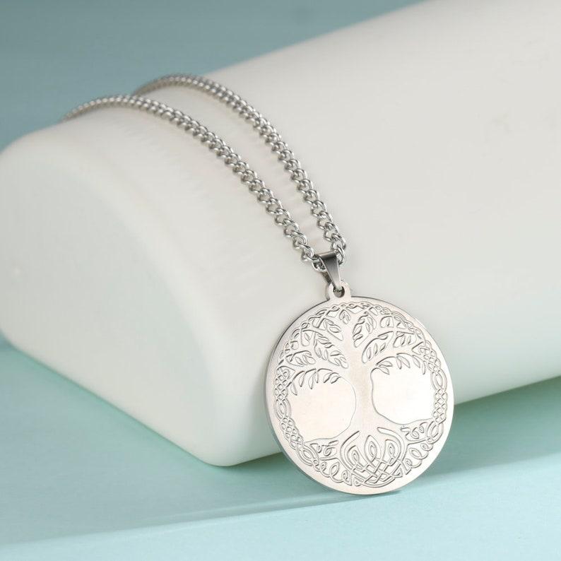 World tree Tree of life STAINLESS STEEL jewelry Viking tree Yggdrasil
