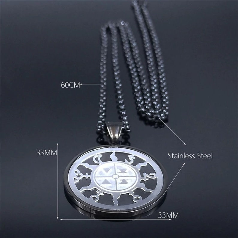 Stainless Steel. Elemental magic necklace