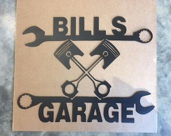Custom Garage Sign For Dad! 16ga Steel CNC Plasma Cut. FREE SHIPPING