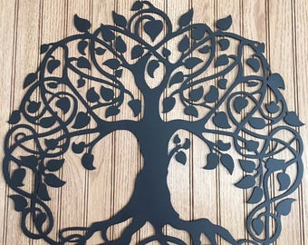 """17"""" Tree of Life Cut From 16ga Steel CNC Plasma Cut"""