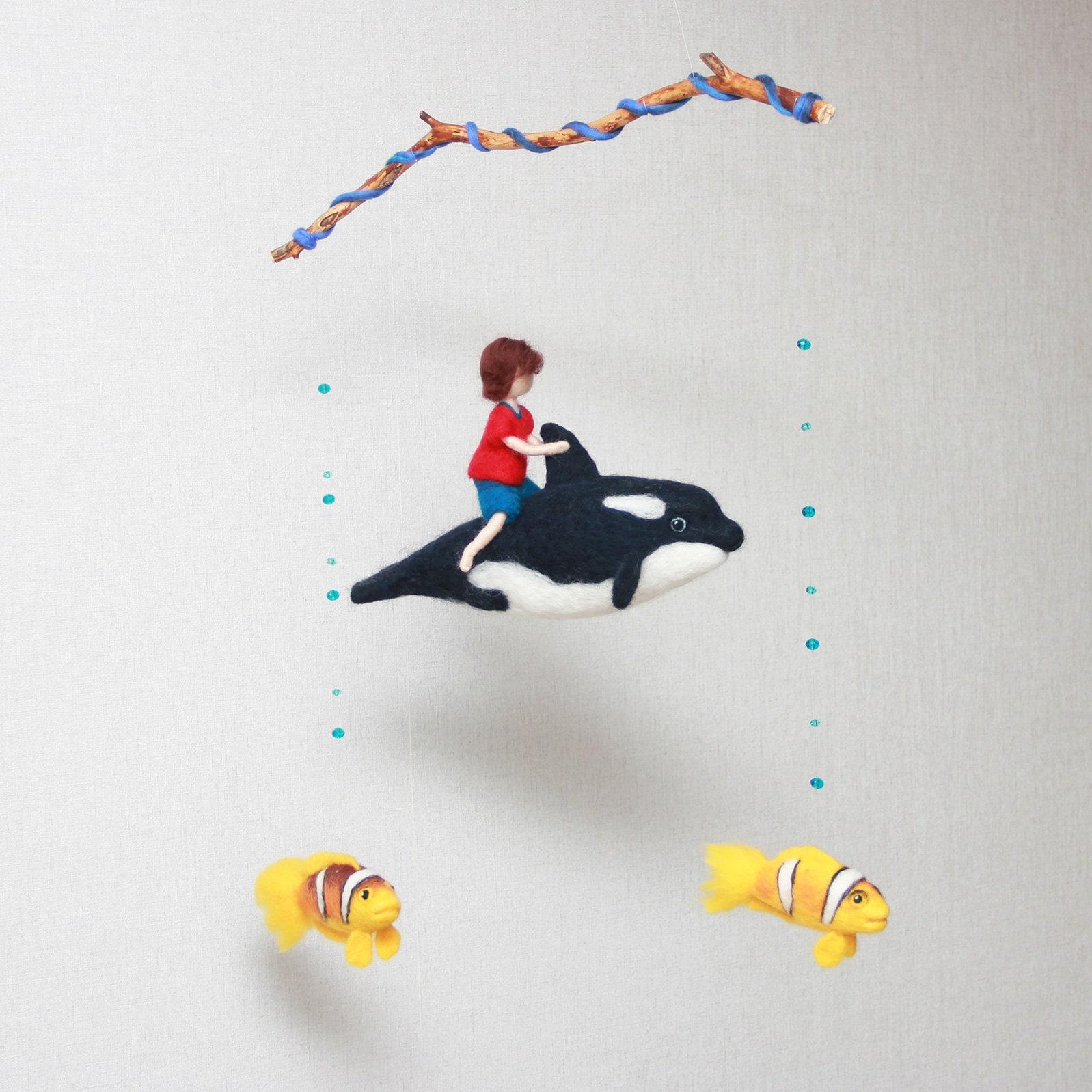 wal baby mobile benutzerdefinierte junge kindergarten mobile etsy. Black Bedroom Furniture Sets. Home Design Ideas