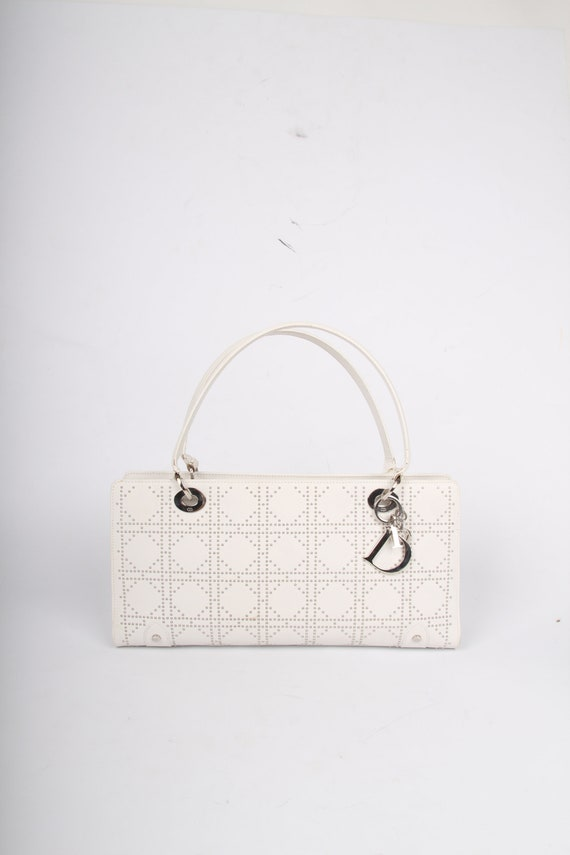 bebed762d71e Lady Dior East West Studded Bag white leather