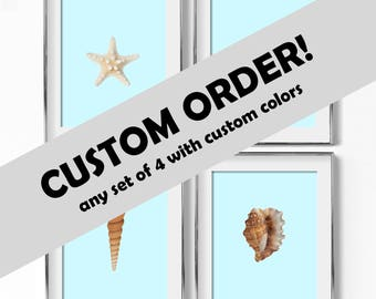 Custom Colors for any Set of 4 Prints