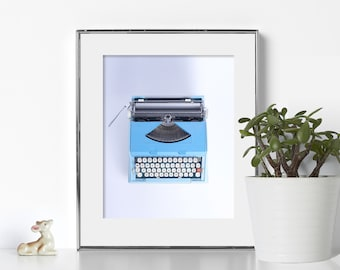 Coral Typewriter Office Art Digital Download Printable Art Writer Quote Education Print Teacher Gift Classroom Poster Typewriter Art Color