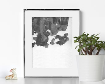 Black and White Aesthetic Digital Download Watercolor Aesthetic Watercolor Print Watercolor Printable Black and White Print Your Own Artwork