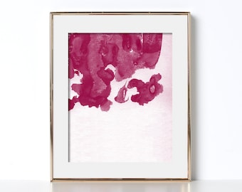 Watercolor Poster Digital Download Abstract Watercolor Art Abstract Poster Pink Ink Watercolor Printable Art Bedroom Poster Printable Art