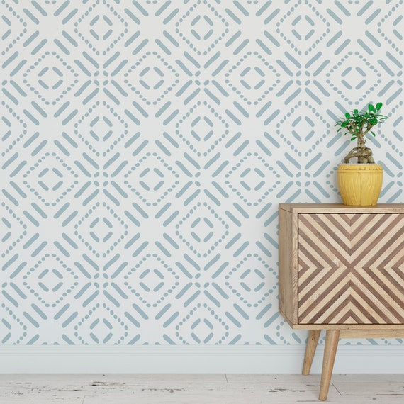 Minimalistic Ethnic Geometric Shapes Self Adhesive Wallpaper Etsy