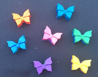 Butterfly or Bow Crayons Favors 10-25 bags