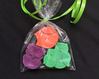 Owl Crayons Favors 10-25 bags- Woodland Birthday- Forest Animal