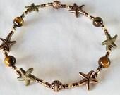 Starfish Anklets Beach Anklets Fun Gold Bronze Anklets Anklets For Women Beach Stretch Copper ANKLETS Summer Boho Anklet Ankle Bracelet