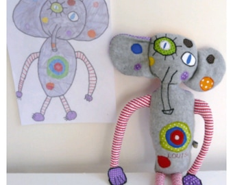 Blanket made from your child's drawing