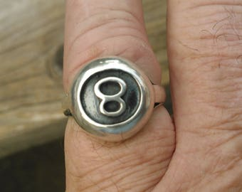 Sterling Silver 8 ball ring 4d9bba0fb49f