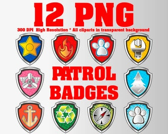 image relating to Paw Patrol Badges Printable identify Paw patrol badges Etsy