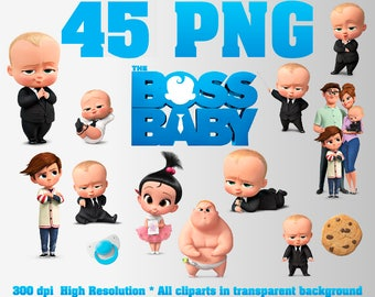 The Boss Baby Clipart | 40 PNG 300 DPI | Transparent background | Boss Baby Party Decorations | The Boss Baby, Templeton