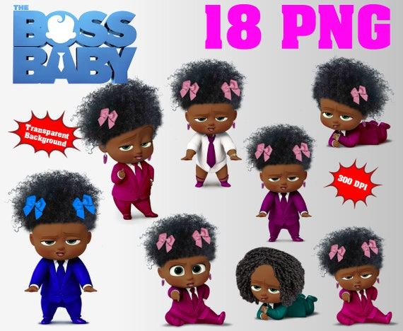 African Girl The Boss Baby Clipart 18 Png 300 Dpi Etsy