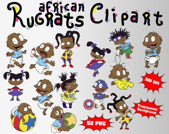 Chucky Clipart Black And White: African Rugrats Clipart 52 PNG 300 Dpi Transparent