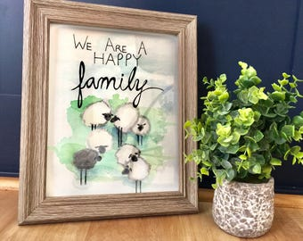 Happy Family wall art, printables, Sheep, Black sheep, Children inspirational quotes, song