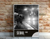 Streets of Seoul Korea Photography Series, Haebangchon at night